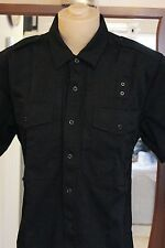 5.11 Tactical Series 71177 mens Button Up s/s shirt L black 65polyester/35Cotton