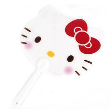 1EA Hello Kitty Face Hand Fan Sanrio (Buchae) women's girl kids ribbon Cute