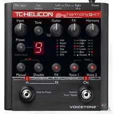 TC Helicon VoiceTone Harmony G-XT Effects Pedal Delay Reverb Pitch Correction