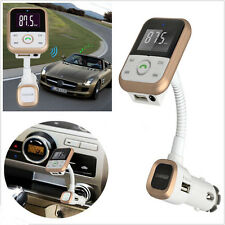 Bluetooth Car Kit MP3 Player FM Transmitter Modulator USB Charger Call With AUX
