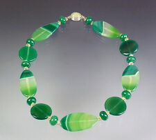 FINAL MARKDOWN - BESS HEITNER GREEN AGATE NECKLACE