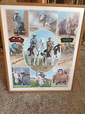 Lone Ranger Clayton Moore Tonto Jay Silverheels Signed Autographed Lithograph