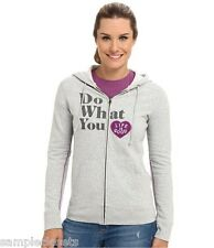 Life is good Women's Go-To Zip Hoodie Do What You Love LIG Grey XS. New.
