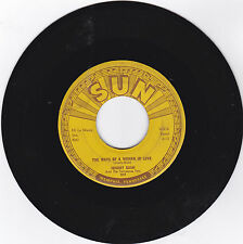 JOHNNY CASH-SUN 302 ROCKABILLY 45RPM THE WAYS OF A WOMAN IN LOVE VG PLAYS GREAT