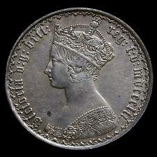 1852 Queen Victoria Gothic Florin – Near EF