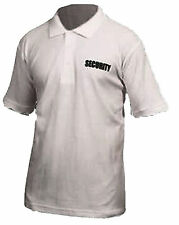 White Security Polo Shirt With Security Logo Large VIPER Doorman T Shirt  XXXL