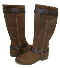 UGG DREE TALL BOOTS BROWN LEATHER BUCKLE US 9 /EUR 40 /UK 7.5 -New!