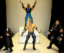 Wrestling Action Figures Lot of 4 - Undertaker DDP Sting Y2J poseable WWF