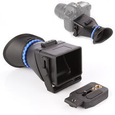 "3.0X LCD Viewfinder For 3""-3.2"" Canon 5D II III 7D Nikon Sony Olympus Pentax Cam"