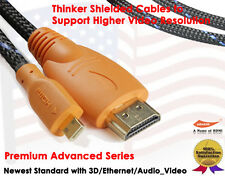 Super Speed Micro HDMI to HDMI cable with Ethernet (3 Feet)- 3D,4K Supported NEW