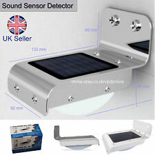 New solar power sound sensor detector 16 LED outdoor light home security lamp