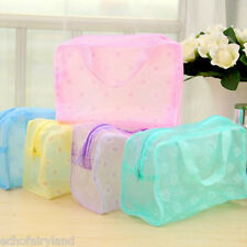 1Pc Portable Waterproof Translucent Makeup Travel Use Storage Bag Random Color