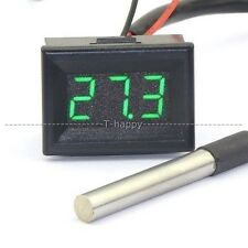 12V 24V LED Digital Thermometer  -55 ~125C Temperature Meter F Aquarium water G
