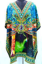 New Hippie Boho Caftan Kaftan Kimono Sleeve Women Cocktail Short Dress Tunic