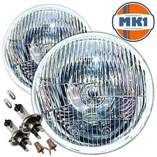 "Ford Escort Cortina MK 1 Flat 7"" Sealed Beam Halogen Conversion Headlights"