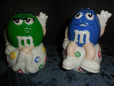 VINTAGE TM MARS BLUE AND GREEN M&M'S EUC BEEN IN STORAGE MISSING PAINT EUC