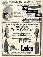 Fritz Schulze München Loden E. Osswald Köln Great Eastern Eisenbahn Meyers..1893