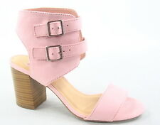 Women's Single Band Double Buckles Chunky Heel Sandal Shoes Size 5.5 - 11 NEW