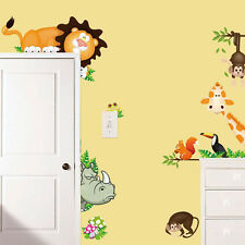 2016 Jungle Animal Kids Baby Nursery Child Home Decor Mural Wall Sticker Decal