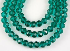 72pcs Chinese Crystal Emerald Faceted Rondelle Loose Beads Jewelry Spacer