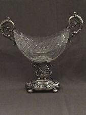 Original Biedermeier Silber/Glas/Bonboniere/Deutsch u. 1830-40