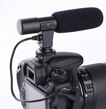 Camera microphone shotgun condenser stereo 3.5mm studio professional for Nikon D