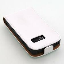 Samsung Galaxy Y Duos S6102 weiß  flip case handy tasche schutz hülle cover etui