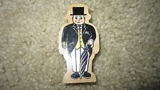 Vintage Thomas the train Sir Topham Hatt wooden printed Figure hat people 2001