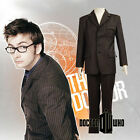 Who is Doctor Who Dr Brown Pinstripe Business Suit Blazer Cosplay Costume