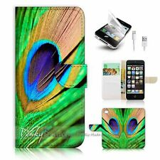 iPhone 5 5S Flip Wallet Case Cover! P1111 Peacock Feather