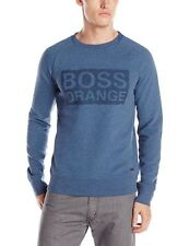 HUGO BOSS Orange Men's Wacce Sweatshirt with Logo Long Sleeve Top Size M