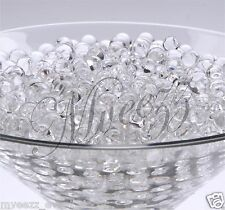15 PKS CLEAR WATER AQUA SOIL CRYSTAL BIO GEL BALL BEADS WEDDING VASE FILLER