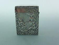 EDWARDIAN  STERLING SILVER PLAYING CARD CASE WILLIAM COMYNS