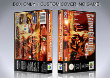 CARMAGEDDON 64. PAL VERSION. Box/Case. Nintendo 64. BOX + COVER. (NO GAME).