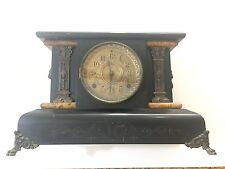 Seth Thomas Adamantine Mantle Clock.FOR PROJECTS/REPAIR.Missing Back