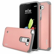 RANZ LG G Stylo 2 Rose Gold/Grey Hard Impact Dual Layer Shockproof Bumper Case