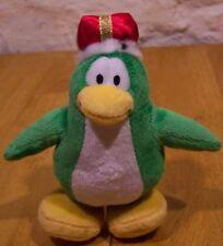 "Disney Club Penguin GREEN KING PENGUIN 7"" ""  Plush STUFFED ANIMAL Toy"