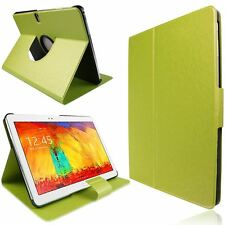 GREEN FOR SAMSUNG GALAXY NOTE 10.1 P600 ULTRA SLIM BOOK PU LEATHER CASE COVER