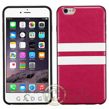 Apple iPhone 6/6s Plus Candy Skin Leather Hot Pink/White  Guard Shell Shield