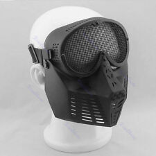 Full Face Eyes Protector Safety Guard Mesh Mask Airsoft Games Gear Hunting Biker
