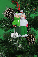 PERSONALISED CHRISTMAS TREE DECORATION ORNAMENT COUPLE SNOW SHOVEL FAMILY OF 2