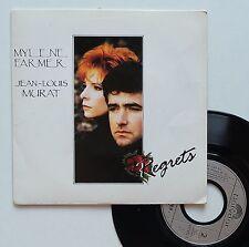 """Vinyle 45T Mylène Farmer / Jean Louis Murat  """"Regrets"""""""