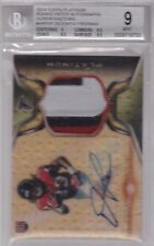 2014 Topps Platinum SUPERFRACTOR Devonta Freeman Auto 3 Clr Jrsy Rc 1 of 1 BGS 9