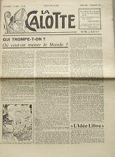 La Calotte n°59  -1960 - Qui trompe-t-on ? - Les faux démocrates - Christianisme