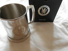 Chelsea Stainless Steel Beer Tankard - Official Club Product-Ideal Football Gift