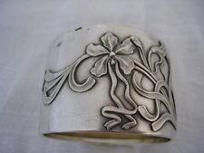 IRIS ORCHIDEE ART NOUVEAU Silver napkin ring Rond de serviette ARGENT MASSIF Top