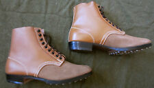 WWII GERMAN WAFFEN HEER ARMY LUFTWAFFE M1942 M42 LEATHER LOW BOOTS- SIZE 13