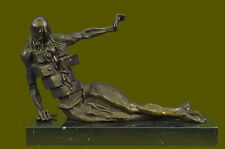 Collectible Statue bronze sculpture Abstract Rare Salvador Dali Elegant Woman EG