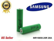 2-Authentic SAMSUNG INR18650-25R 3.7V 2500mAh High Drain Rechargeable Battery