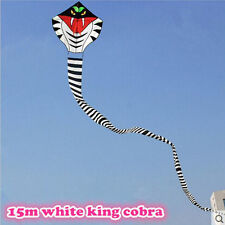 NEW 15m Power Cobra Snake Kite Outdoor Fun Sports easy to fly Children Toys
